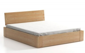 COMFORT SEL with storage for bedding - headrest behind a wooden alder - opens from the front