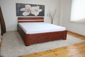 REM BIS COMFORT container for bedding - oak - opening from a leg