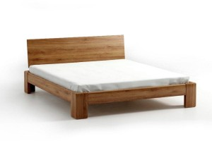 Bed SEL - oak - Wooden headrest