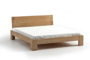 Bed SEL - alder - Wooden headrest