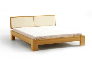 Bed SEL - beech - Upholstered headboard