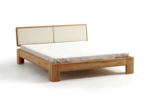 Bed SEL - oak - upholstered peak
