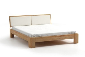 Bed SEL - alder - upholstered peak
