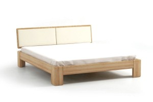 Bed SEL - ash - upholstered peak
