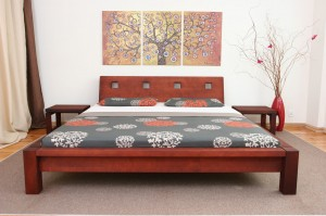 SIH bed with a peak K3 - oak
