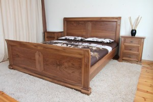 La Notte bed - walnut  wood